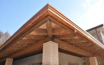 Veranda con tavelle stile toscano